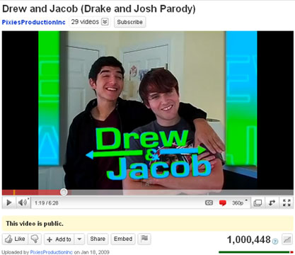 Drew and Jacob finally hits 1 MILLION VIEWS!